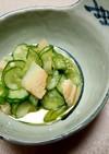 胡瓜とオクラ、ほぼ帆立の和え物
