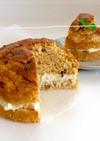 黒糖ケーキ*バナナチーズクリーム