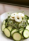 ズッキーニとスプラウトのてんこ盛りサラダ
