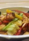 鶏肉とキャベツのガーリック炒め