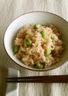 夏限定 枝豆(茶豆)の混ぜご飯
