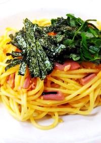 塩辛と卵のスパゲティ