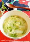 餃子の皮で♬ちょこっとワンタン風スープ