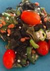 夏野菜でサッパリ満腹ネバネバサラダ