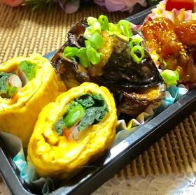♡簡単*菜の花とカニカマ玉子巻き巻き〜♡