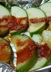 ズッキーニのケチャップホイル焼き