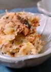 サバの味噌煮ポテサラ♪