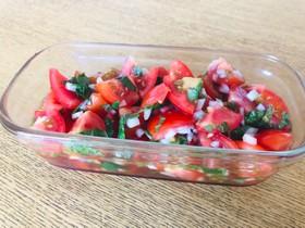 トマトと大葉の具沢山ドレッシング