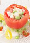 トマトカップのカラフルサラダ