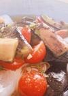 ナスとプチトマトのお素麺