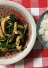 葉大根と揚げの炒め物