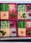 胡瓜編み込みの散らし寿司  デコ弁