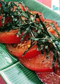 ごま油とお酢で☆夏の冷やしトマト♪
