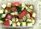 簡単きゅうりとトマトのサラダ