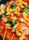 簡単!☆夏野菜と鶏胸のトマト煮込み☆