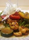 鶏もも肉と夏野菜のカレー炒め