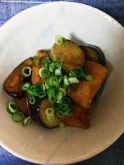 茄子と厚揚げの甘辛炒めの写真