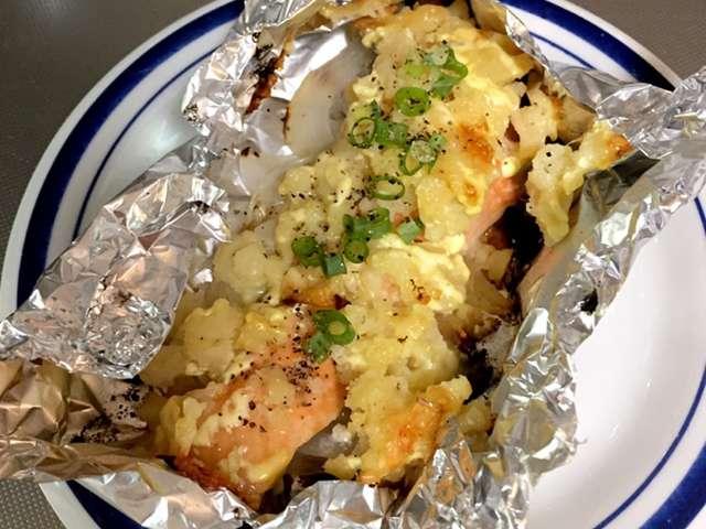 鮭 の ホイル 焼き チーズ
