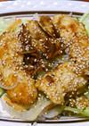 鶏むね肉のガリジン甘辛炒め丼。