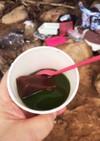 水羊羹in抹茶ウォーター
