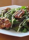 鶏もも肉とピーマンの梅醤油マヨネーズ炒め