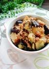 レンジで簡単☆茄子と厚揚げのそぼろ煮。