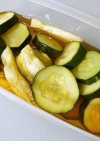 作り置き☆レンチンで夏野菜の甘酢漬け