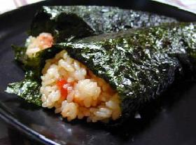 バターご飯のいくら手巻き寿司__Hand-rolled Sushi/Butter rice&Sermon roe