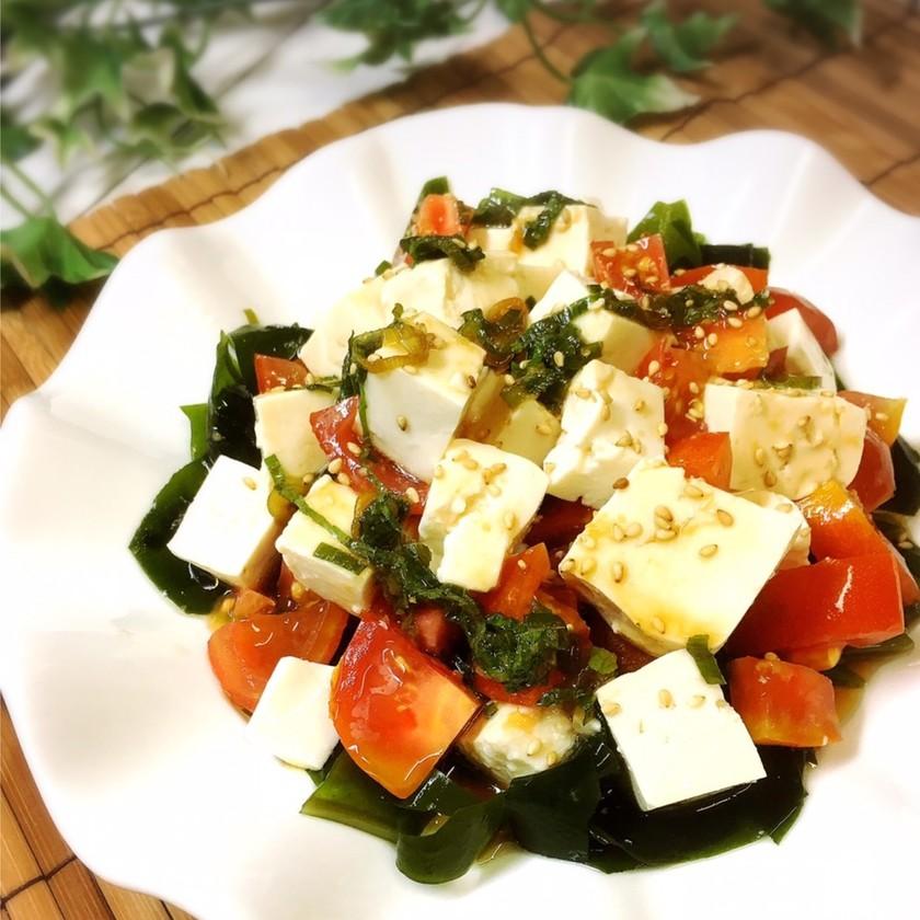 *さっぱり豆腐のサラダ*