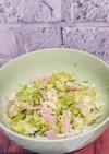 キャベツとハムのノンオイルマリネ風サラダ