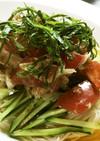 ツナとまサラダdeぶっかけ素麺♡
