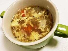 生姜が効いた卵と野菜のとろ〜りスープ♡