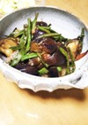 夏野菜ナスとインゲンの炒め煮