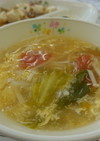 【学校給食】卵とトマトのスープ