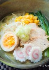 あっさりスープの⁂冷やし鶏塩ラーメン