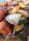 ズッキーニと玉ネギのトマト炒め
