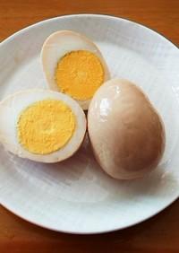 味付卵☆ゆで卵4個をめんつゆ大さじ1で!