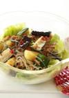 夏野菜の春雨混ぜサラダ