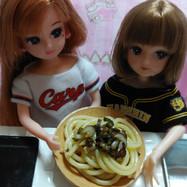 リカちゃんサイズ♡野球シリꕤ牡蠣のパスタ