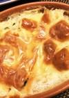 低カロリー 鮭とほうれん草の豆腐グラタン