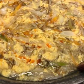 もずく酢で作る酸辣湯(サンラータン)