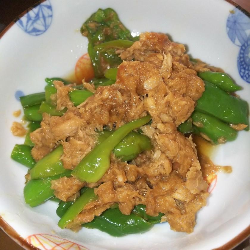 ししとうやピーマン梅肉ポン酢炒め煮