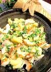 竹輪と小ねぎの柚子胡椒味のマカロニサラダ