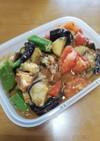 トマト茄子オクラ鯖味噌煮炒め
