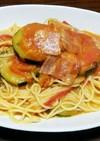 ズッキーニとトマトのパスタ