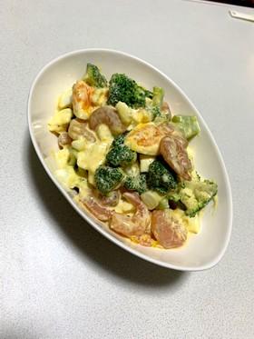 海老とブロッコリーのサラダ