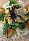 葉大根の中華麺