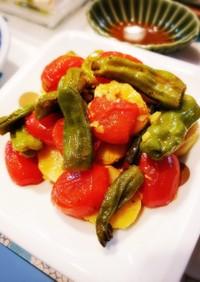 簡単 グリル野菜のマリネ カレー風味
