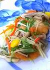 ヘルシーハンバーグの彩り野菜あんかけ♪