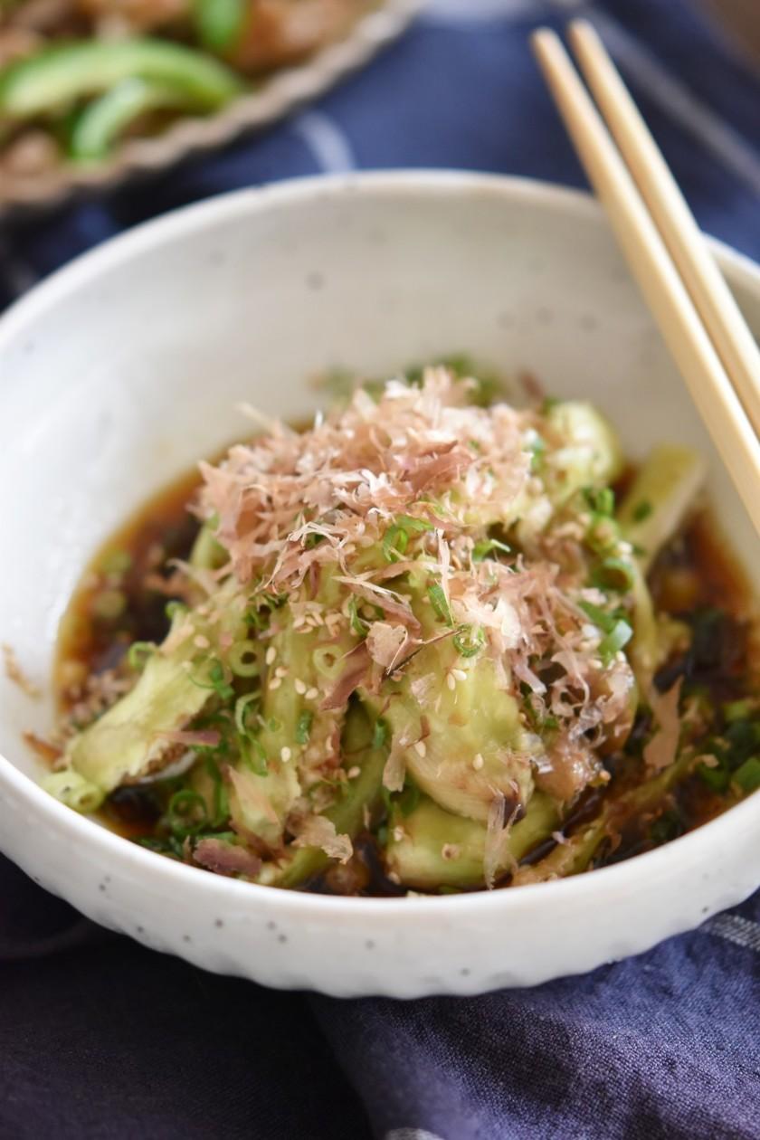 レンジで簡単♪とろとろなすの中華風サラダ